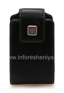 Купить Оригинальный кожаный чехол с клипсой и металлической биркой Leather Swivel Holster для BlackBerry