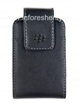 Оригинальный кожаный чехол с клипсой Leather Swivel Holster для BlackBerry, Черный (Black)
