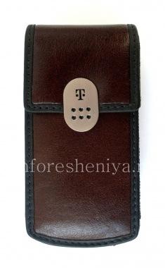 Купить Фирменный кожаный чехол с зажимом T-Mobile Leather Carrying Case & Holster для BlackBerry