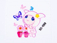 "Sticker for BlackBerry, ""Cute Girl"""