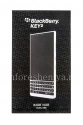 スマートフォンボックスBlackBerry KEY2 LE, 2 SIM、64 GB、シルバー