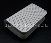 The original portable audio system / speakerphone Mini Stereo Speaker for BlackBerry, White