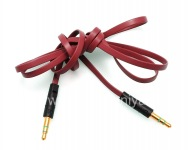 Cable de audio Audio-a-Audio Jack (Aux) de 3,5 mm para BlackBerry, Rojo
