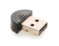 Bluetooth-адаптер для подключения BlackBerry к компьютеру, Черный, Закругленный