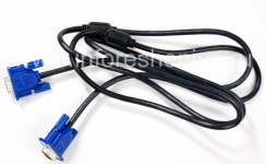VGA-cable to connect the BlackBerry Presenter, The black
