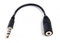 Adaptha 3.5mm umgodi we-earphone ukuba 2.5mm for BlackBerry, black