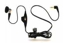 Original Mono Headset 2.5mm Mono Bud Headset for BlackBerry, The black