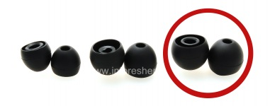 earplugs Original for BlackBerry Premium earphone, Black, usayizi Big
