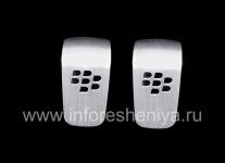 Original removable plates for BlackBerry Multimedia Premium Headset, Silver