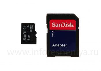 SanDisk মাইক্রোএসডি 2GB মেমরি কার্ড ব্র্যান্ডেড BlackBerry জন্য