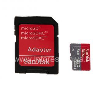 Фирменная карта памяти SanDisk Mobile Ultra MicroSD (microSDHC Class 10 UHS 1) 8GB для BlackBerry