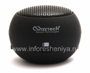Branded Tragbares Audiosystem Naztech N15 3,5-mm-Mini-Boom-Lautsprecher für Blackberry, Black (Back)
