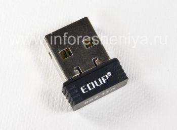 WiFi-адаптер EDUP для подключения BlackBerry к Интернету от компьютера