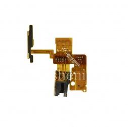Микросхема аудио-разъема в сборке с датчиками близости и освещенности, микрофоном и кнопкой включения для BlackBerry DTEK60, Черный