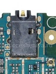 Audio-Buchse (Kopfhörerbuchse) T17 für Blackberry-Z3, schwarz
