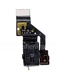 Микросхема аудио-разъема в сборке с микрофоном для BlackBerry Motion, Черный