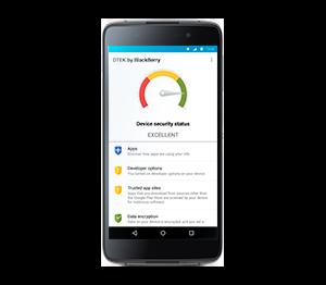 BlackBerry DTEK50: полная безопасность данных