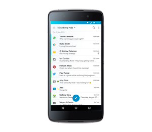 BlackBerry DTEK50: BLACKBERRY HUB