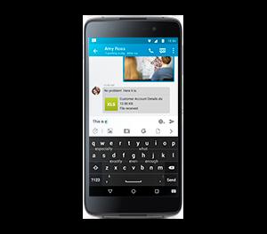 BlackBerry DTEK50: умная клавиатура