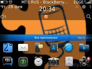 Прогноз погоды для BlackBerry
