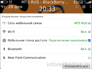 BlackBerry Hotspot