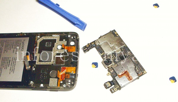 Разборка BlackBerry DTEK60/ Инструкция: Промежуточный этап.
