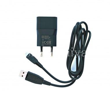 Купить Оригинальное сетевое зарядное устройство повышенной силы тока 1300mA с USB-кабелем AC-1300 Charger Bundle для BlackBerry
