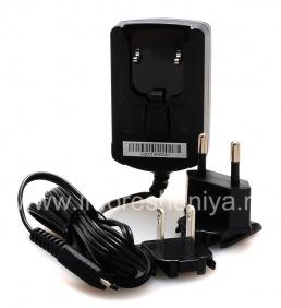 Оригинальное сетевое зарядное устройство с разъемом MicroUSB для BlackBerry, Черный