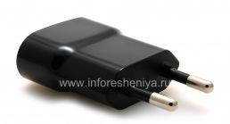 """Оригинальное сетевое зарядное устройство """"Микро"""" 750mA USB Power Plug Charger для BlackBerry, Черный (Black), для Европы (России)"""