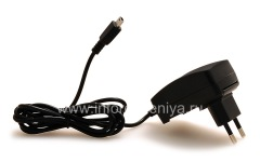 Original wall charger with MiniUSB connector, The black